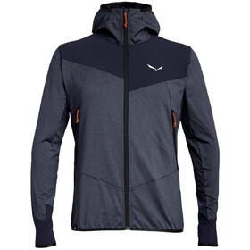 SALEWA Agner Hybrid Polarlite/Durastretch Full-Zip Hoodie Men premium navy melange